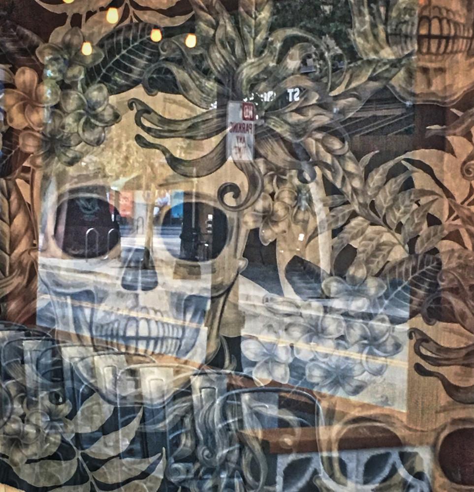 Modern Abstract Art of Skull for sale. Richard London