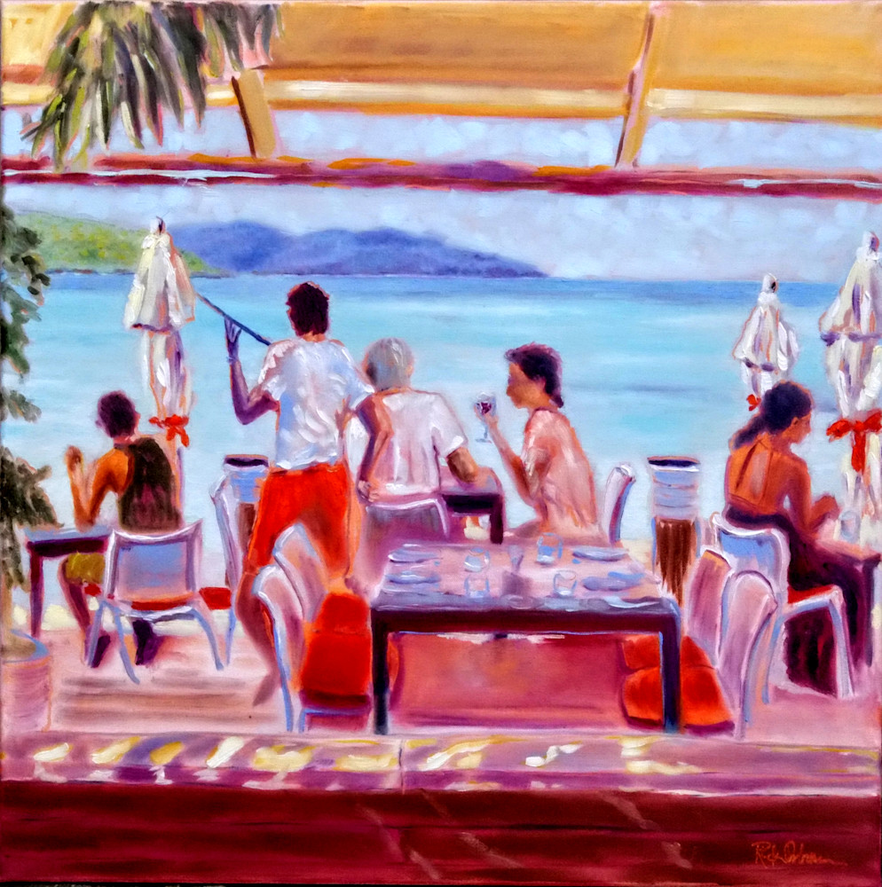 Waiting In Paradise | Print of Caribbean St. Barth's Restaurant