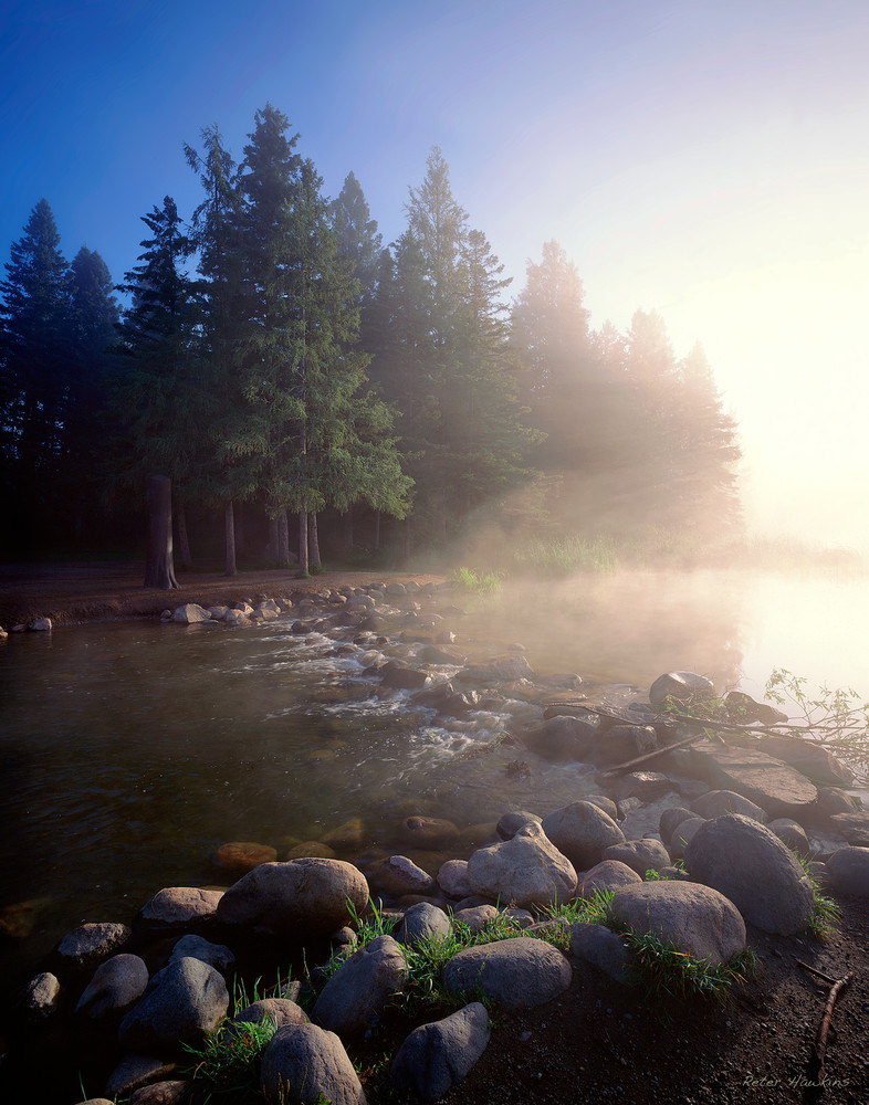 Morning fog at the Mississippi Headwaters