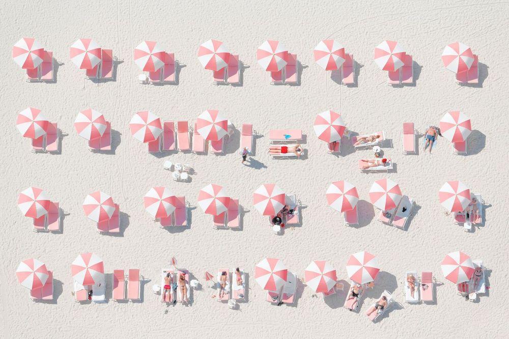Pink Umbrellas Photography Art | DE LA Gallery