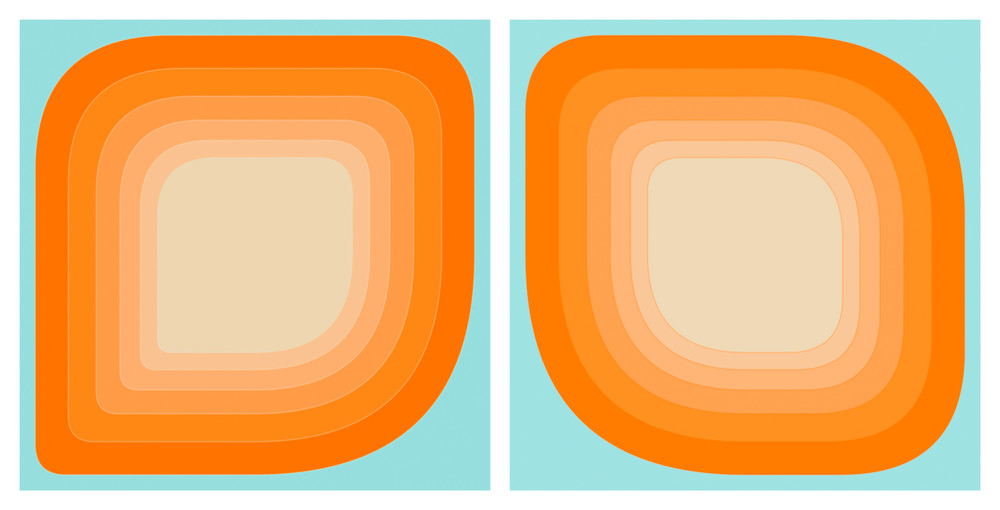 We Dream ofAndroid Goldfish diptych, part of the Morphology suite by contemporary digital artist Paul Westacott