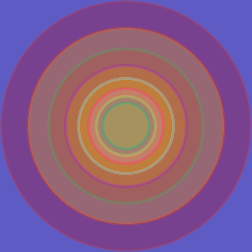 Orbital, Blue Meme, contemporary fine art print, multiple sizes