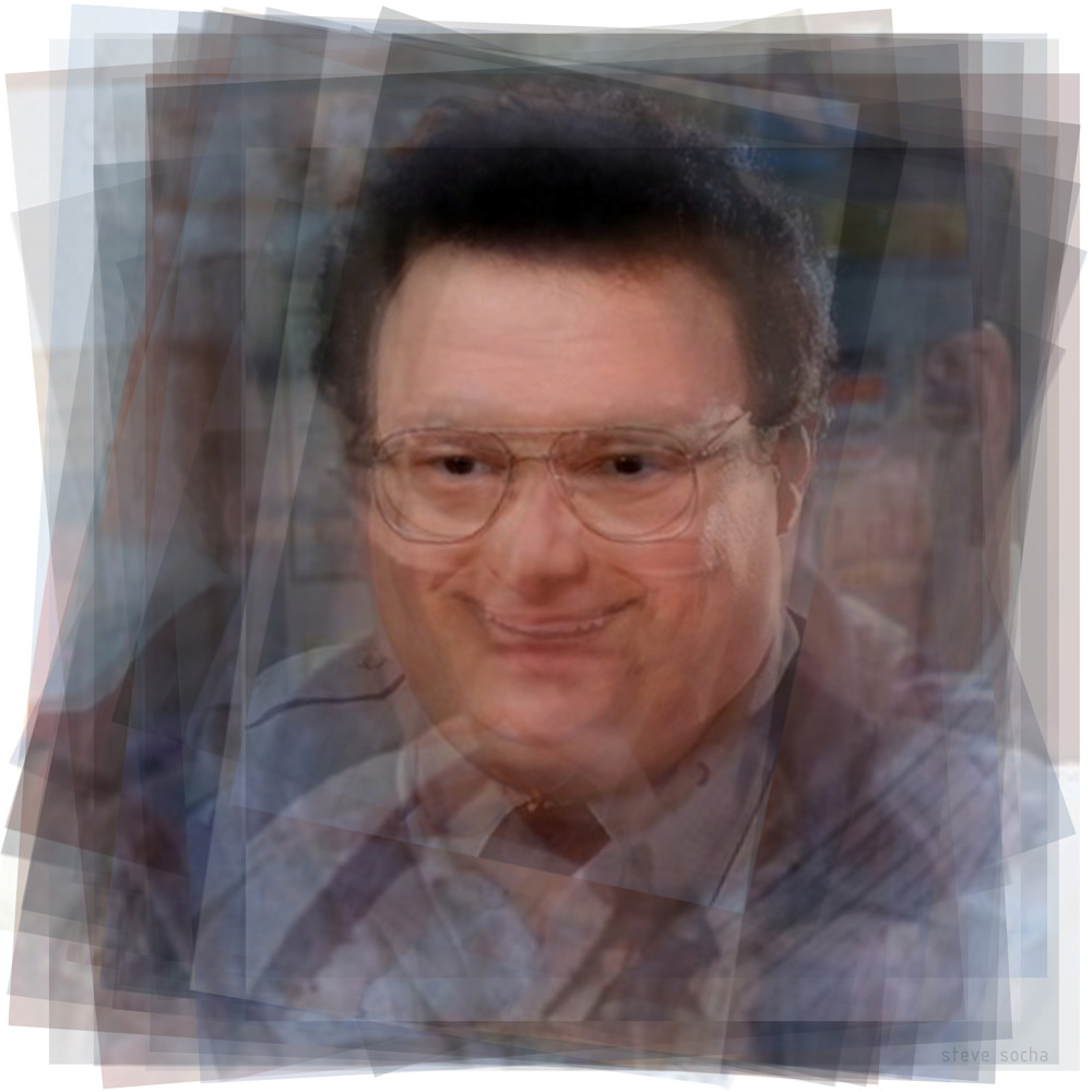 Overlay art – contemporary fine art prints of Newman from Seinfeld