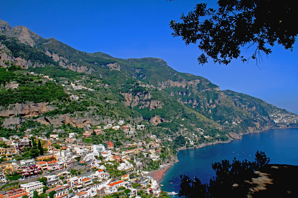 Cliff side town of Positano on the Amalfi Coast