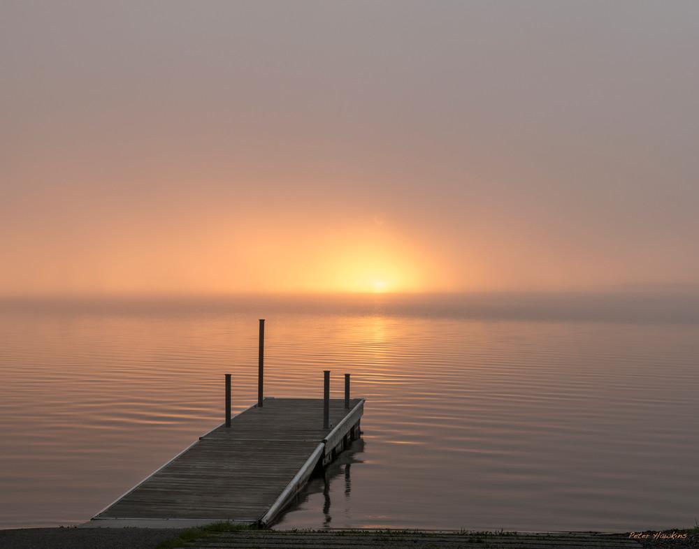 Foggy Sunrise Leech Lake