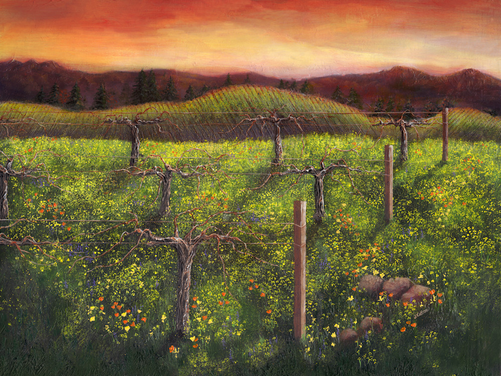 vineyards,vineyard art,vineyard paintings
