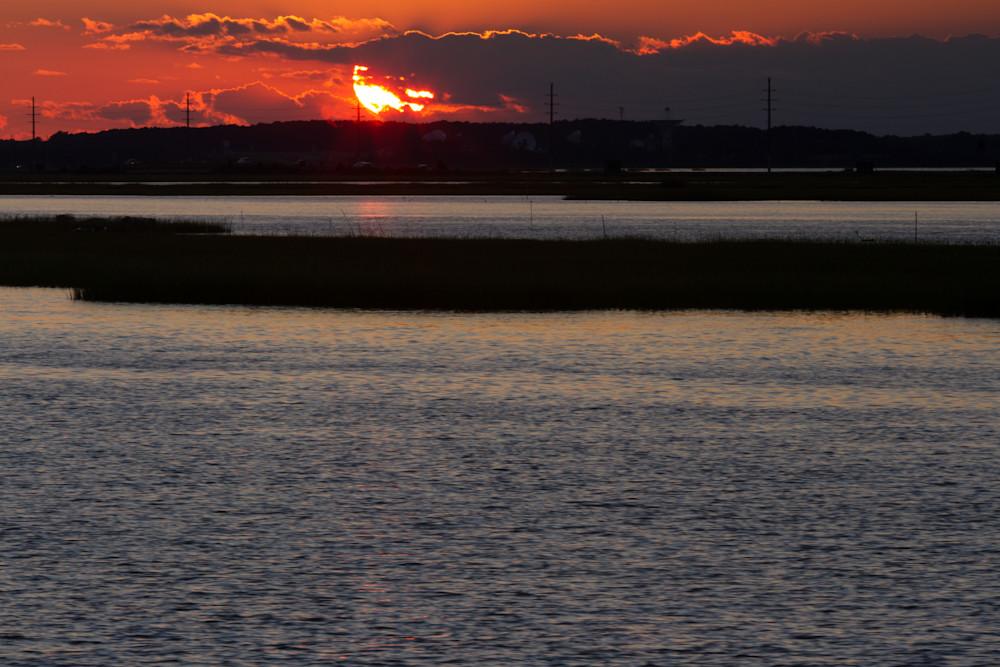 A Fine Art Photograph of a Chincoteague Romantic Sunset by Michael Pucciarelli