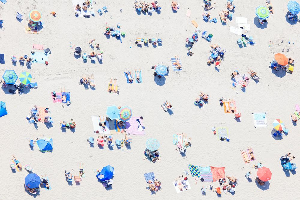 """""""Beach Confetti"""" Newport RI Aerial Beach Photography"""