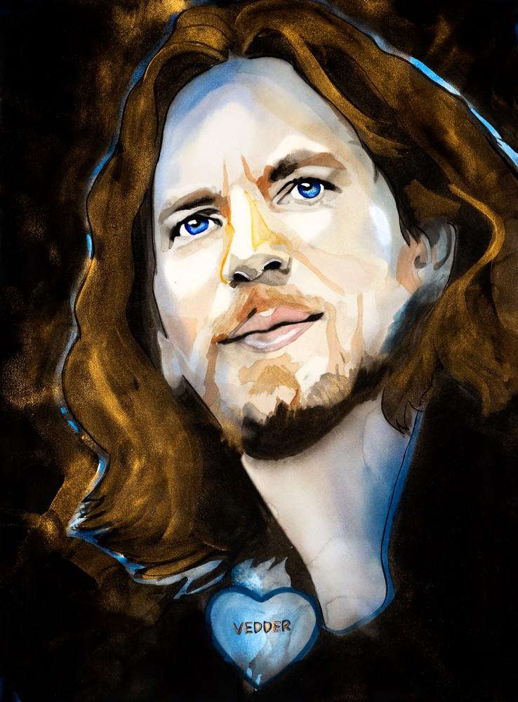 Eddie Vedder Art | William K. Stidham - heART Art