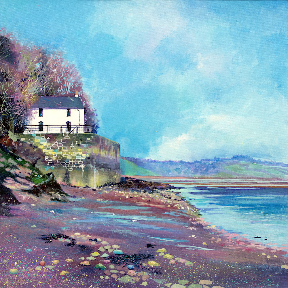 Boathouse Laugharne Art print