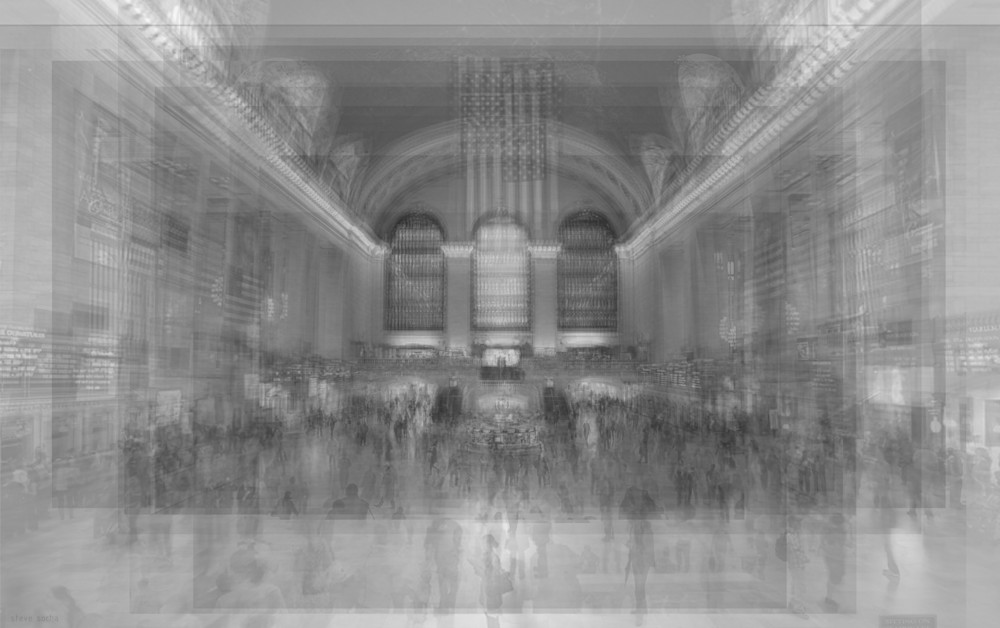 Contemporary art prints using photographs of Grand Central Terminal in New York City.