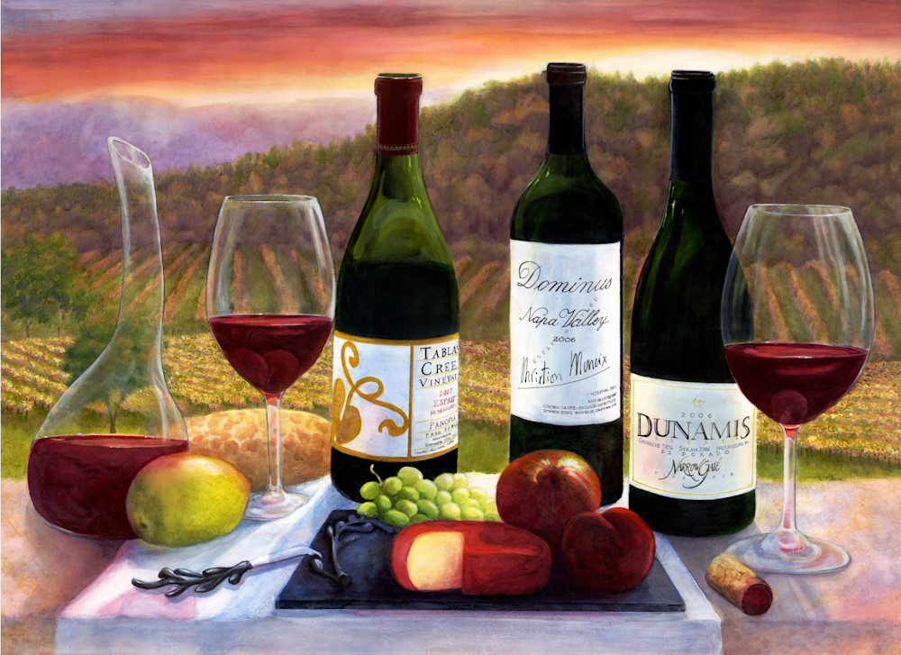 Landscapes,  Wine Art, Wine scenes