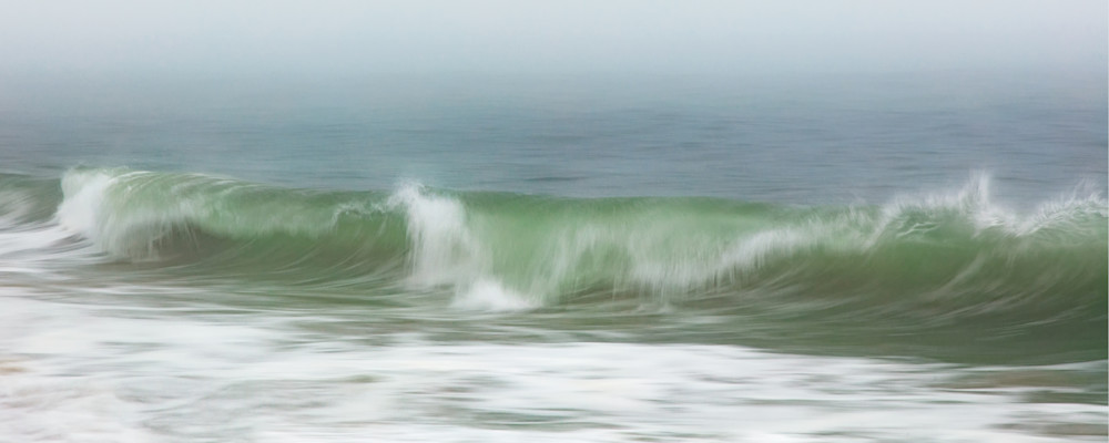 Surfside Beach In Fog Panoramic Nantucket Ocean Photography