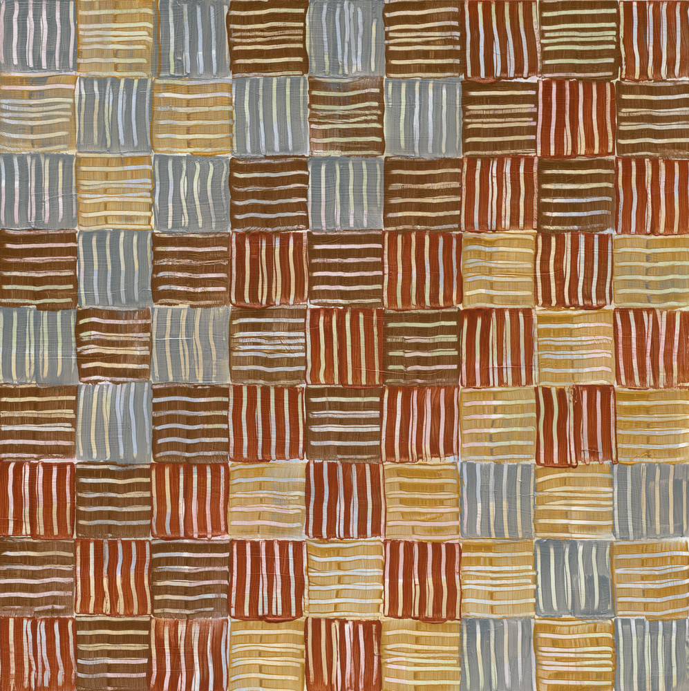 A checked metallic abstract.