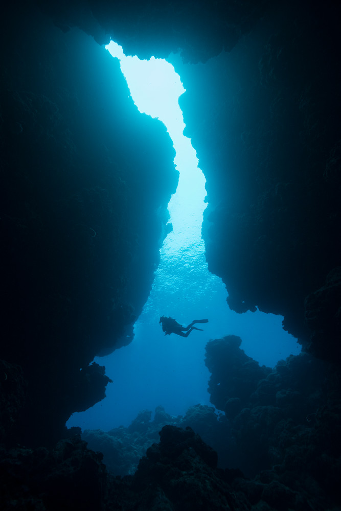 Cave Silhouette Diver, Solomon Islands