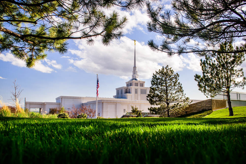 Billings Montana Temple - Through Trees