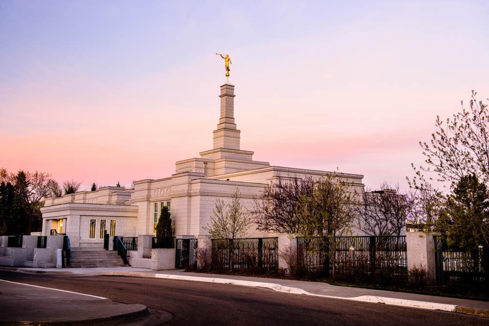 Edmonton Temple - Sunset Corner