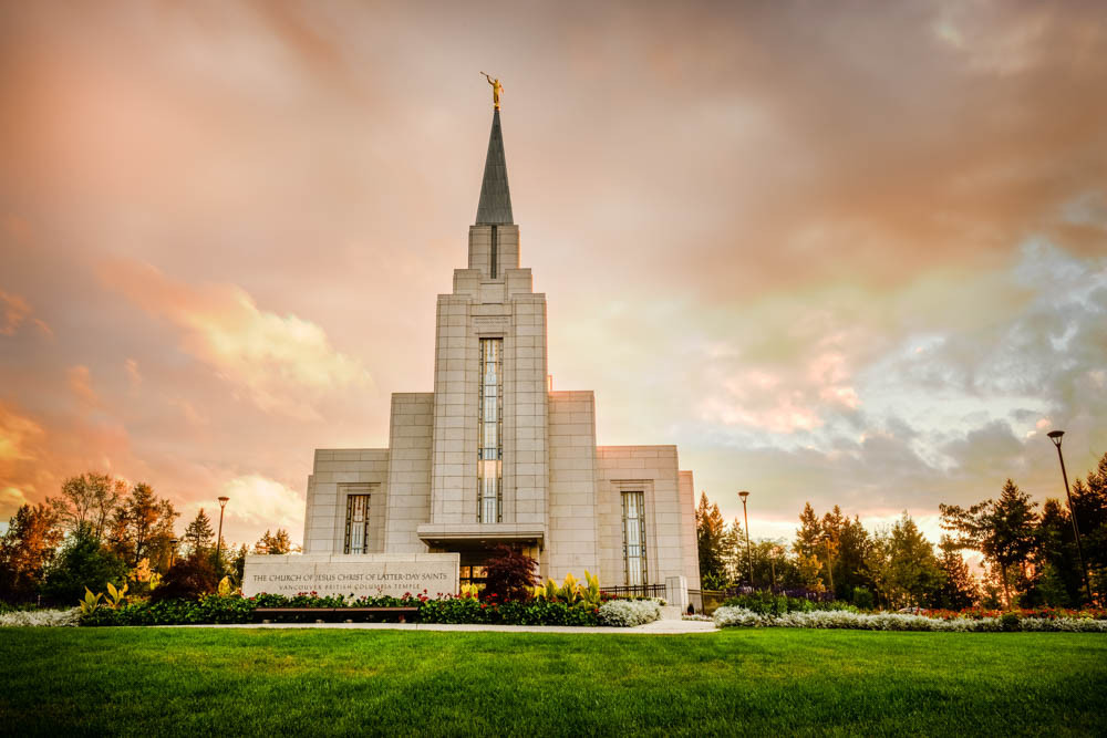 Vancouver Temple - Sunset