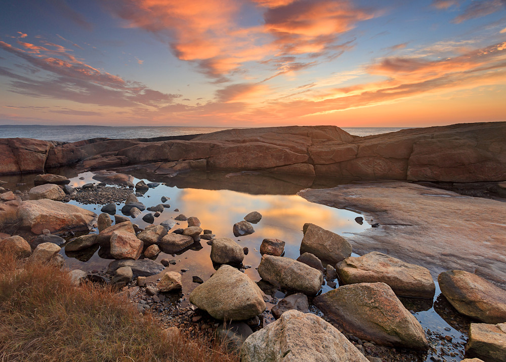 """Tidepool Sunrise II"" Rhode Island Scenic Coastal Photography"
