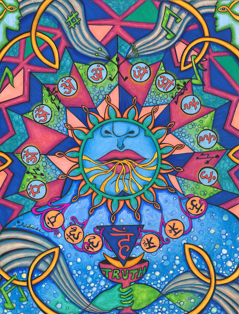 throat chakra, blue, truth, mandala art