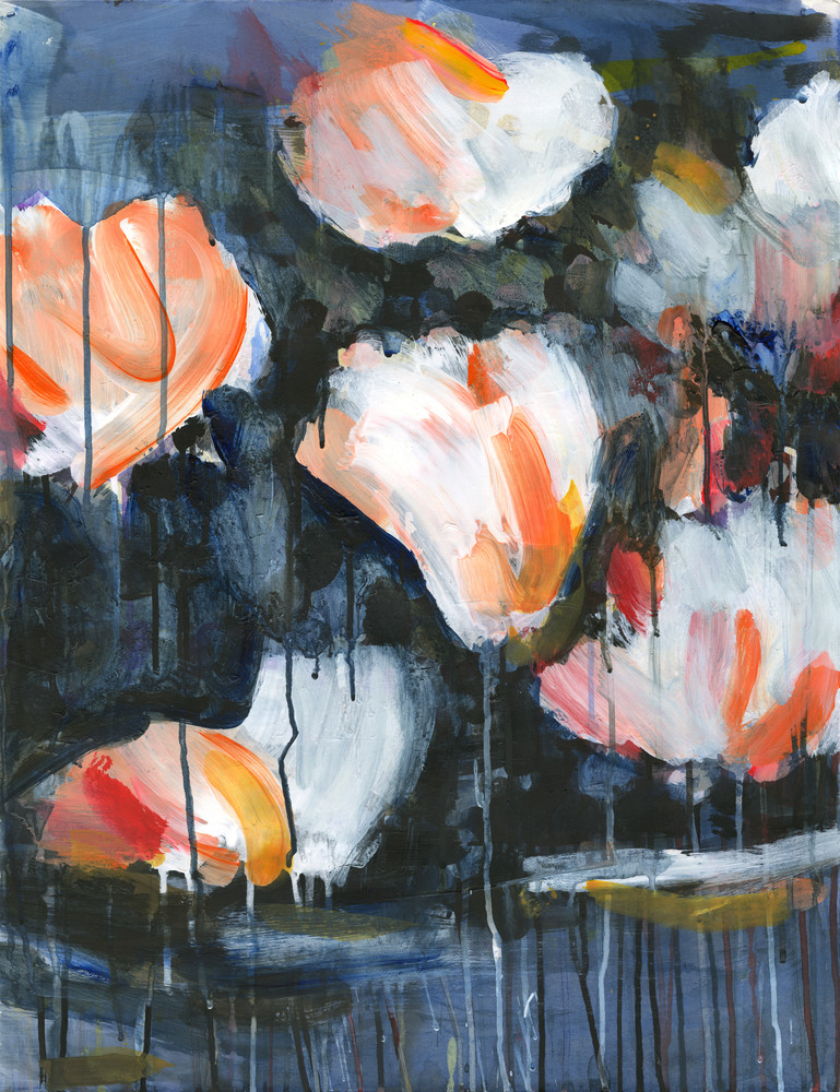Mud & Peonies II - Canvas