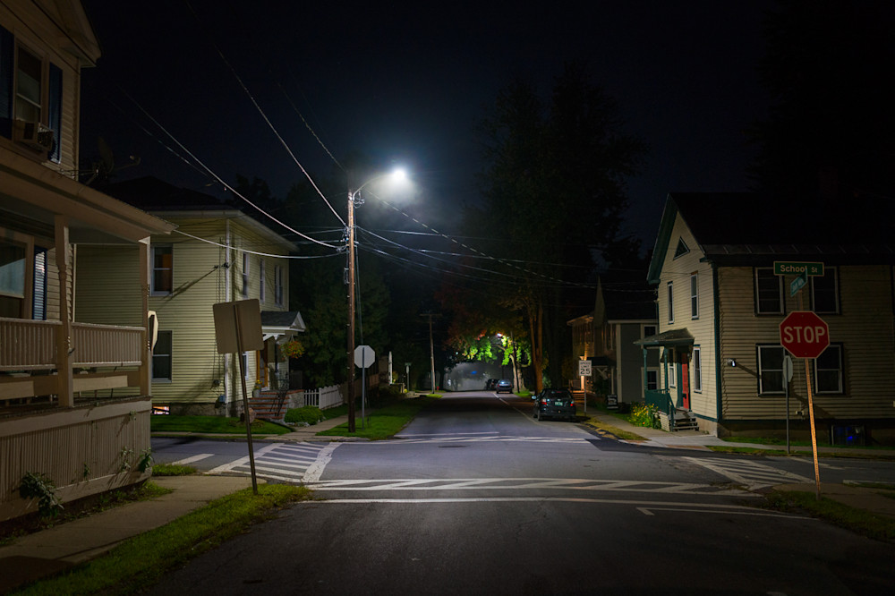 Photography, Vermont, nocturne, Vergennes, nightscape, cityscape