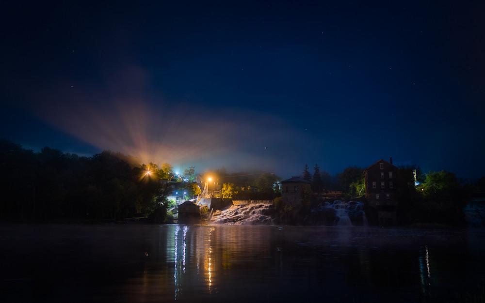 Photography, Vermont, nocturne, vergennes, vergennes falls, new england, nightscape