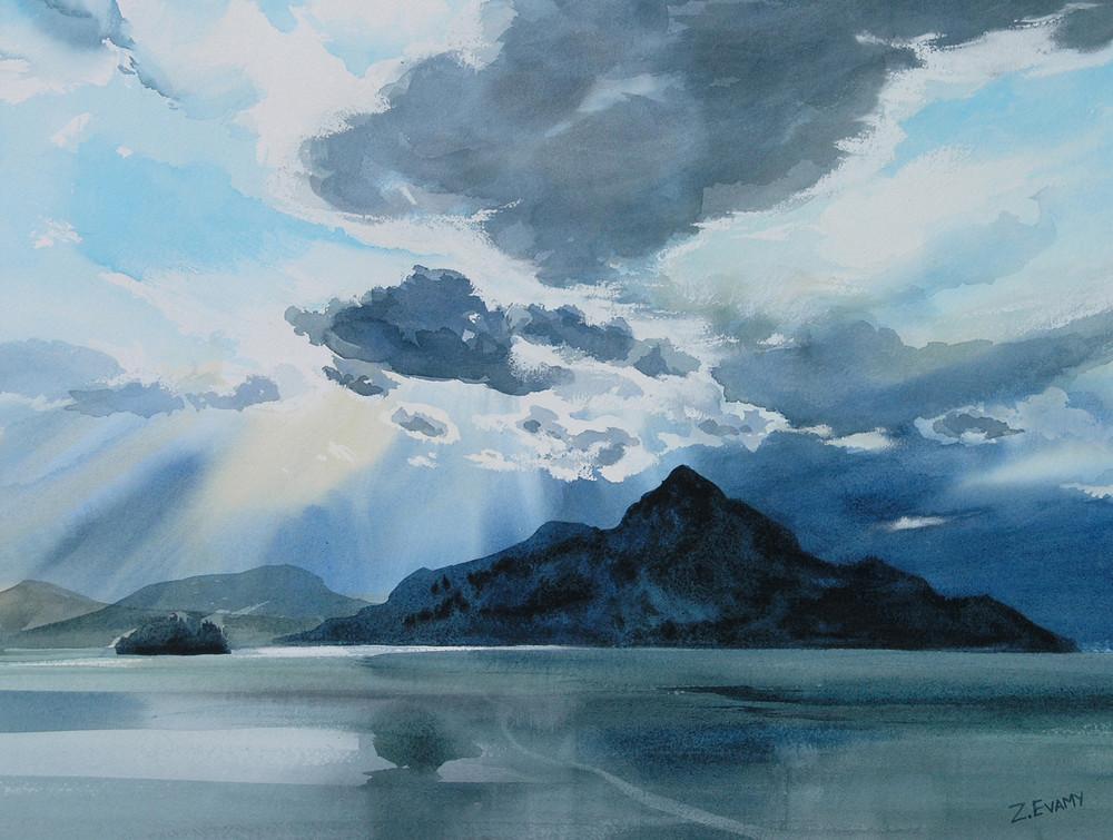 Cloudburst over Anvil Island