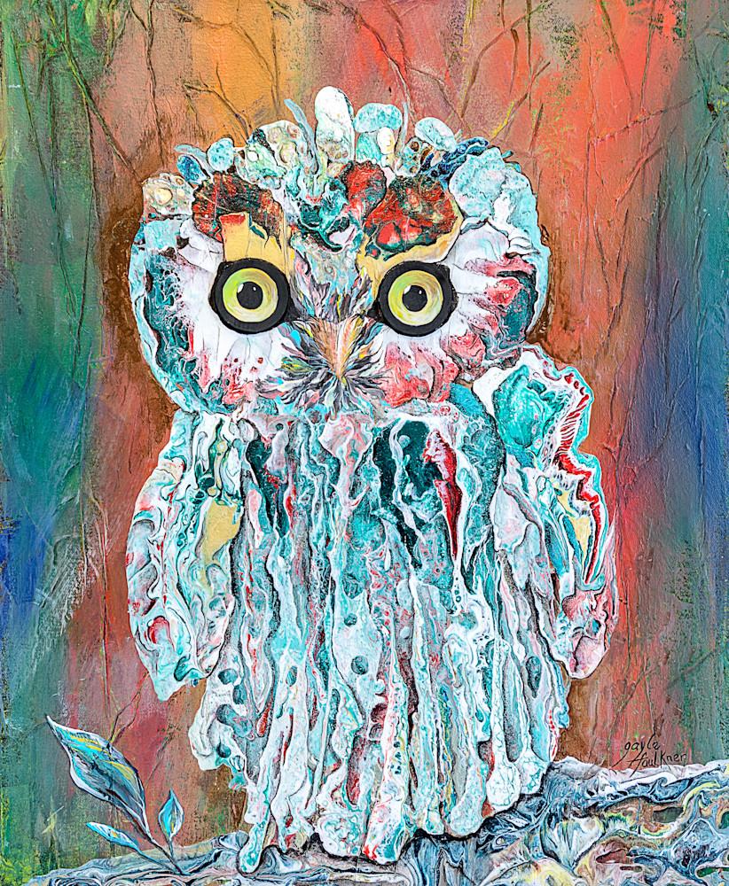 Whoo Whoo by Mixed Media artist Gayle Faulkner