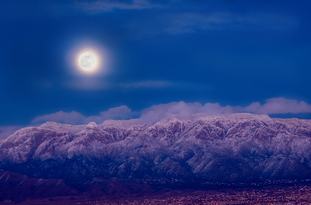 Photo, Frozen Sandia Moonscape, d'Ellis Photographic Art photographs, Bill