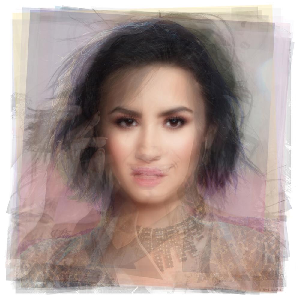 Overlay art – contemporary art prints of Demi Lovato