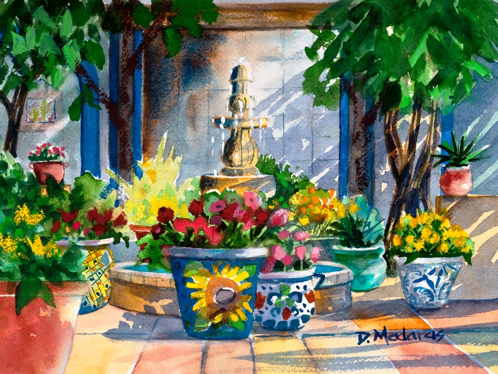 Courtyard Splendor | Southwest Art Gallery Tucson