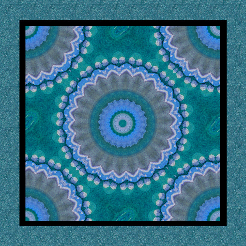 Blue wave Mandala Art paintings for sale | Grimalkin Studio