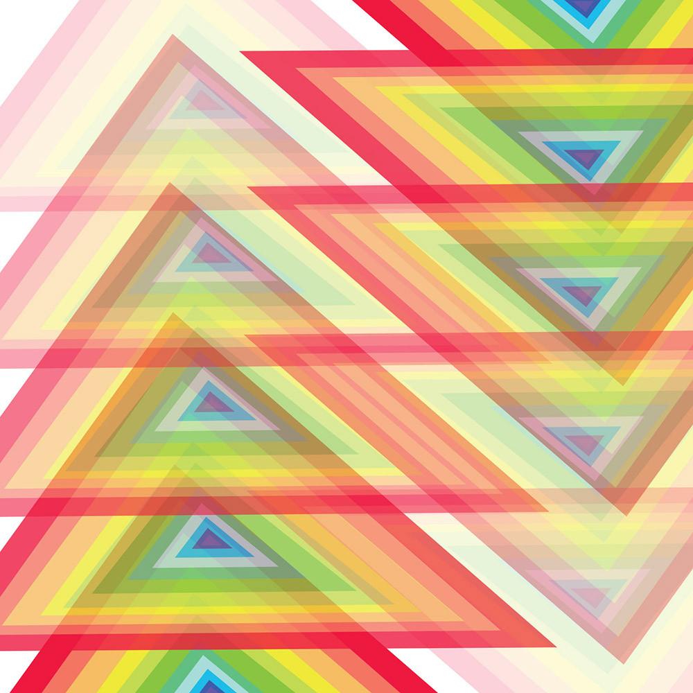 spectrum, triangle, wall art, graphic design, rainbow