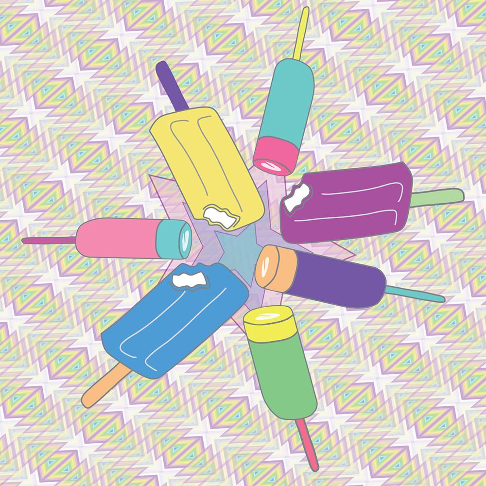 popsicle, wall art, spectrum, art, graphic design