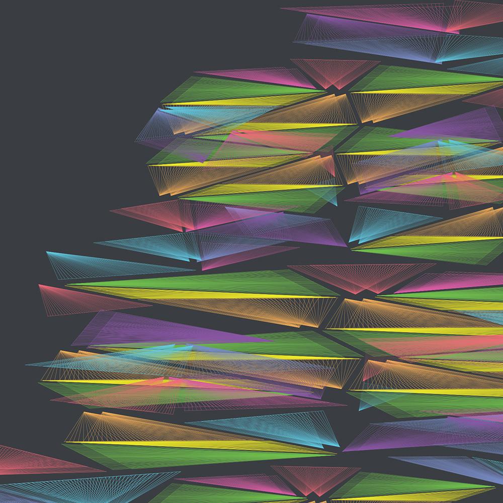 vortex, stacked, wall art, spectrum, graphic design