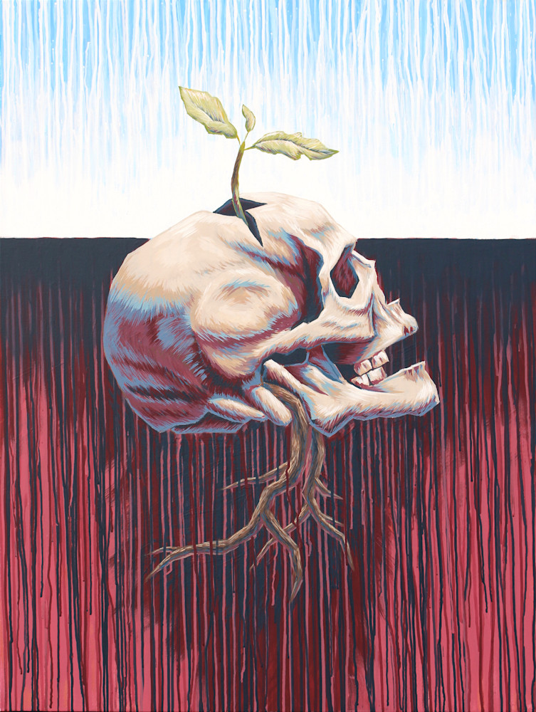 Veil of Transition - 'Heart & Skull' Art by Zak D. Parsons