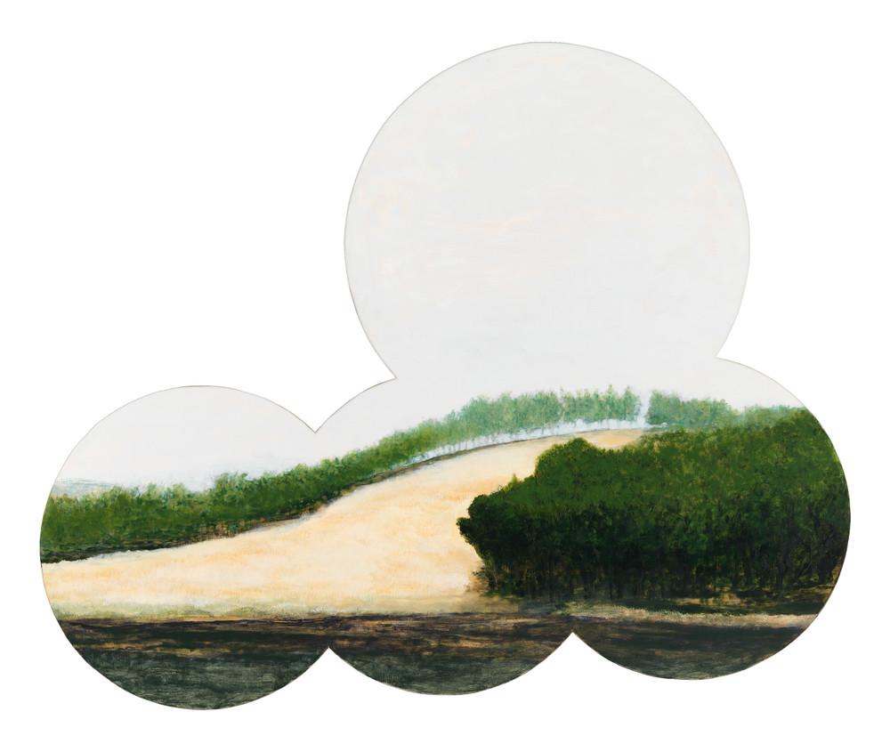 Shaped landscape-art, Sicily landscape-art, shaped Sicilian landscape-art