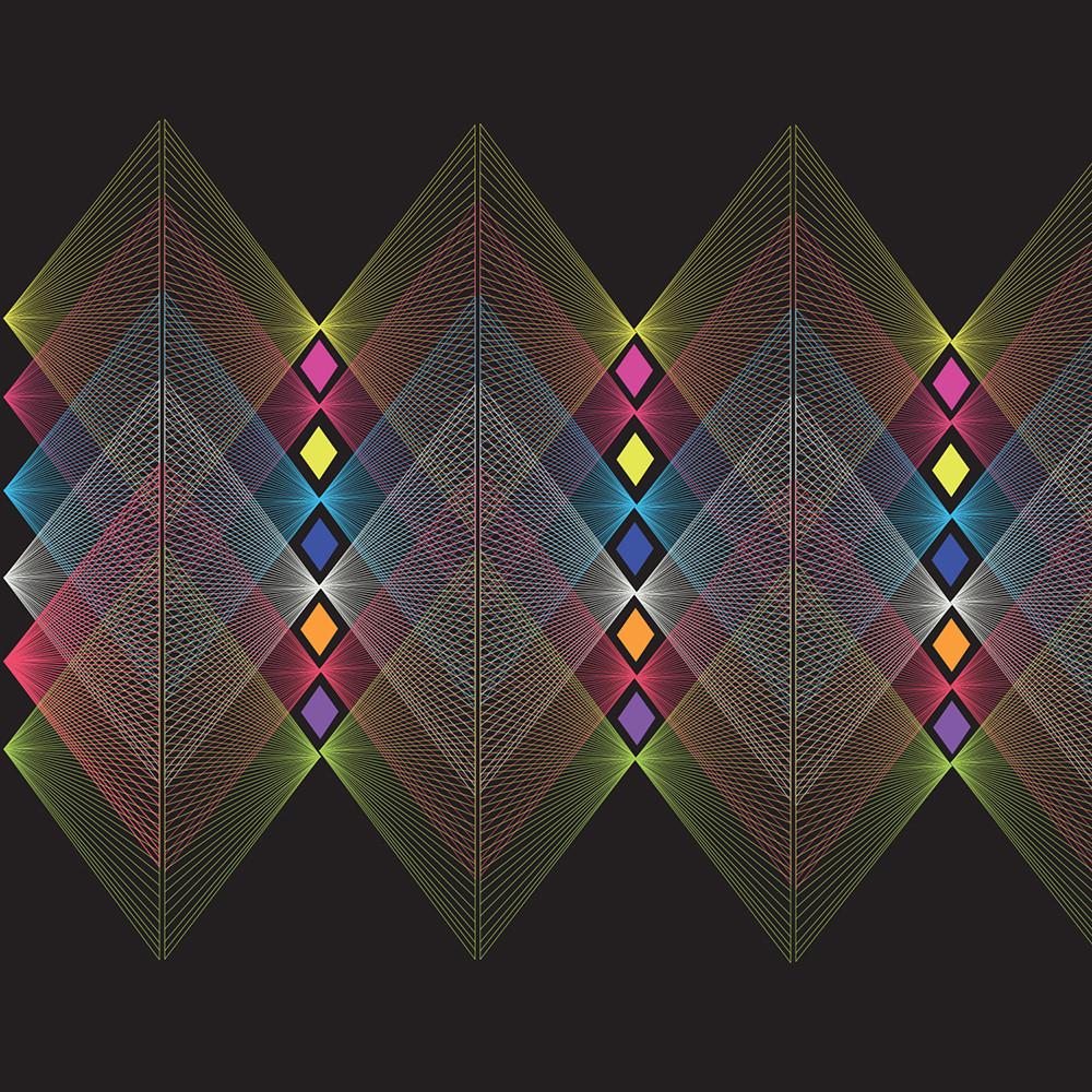 mountain, vortex, wall art, graphic design, op art
