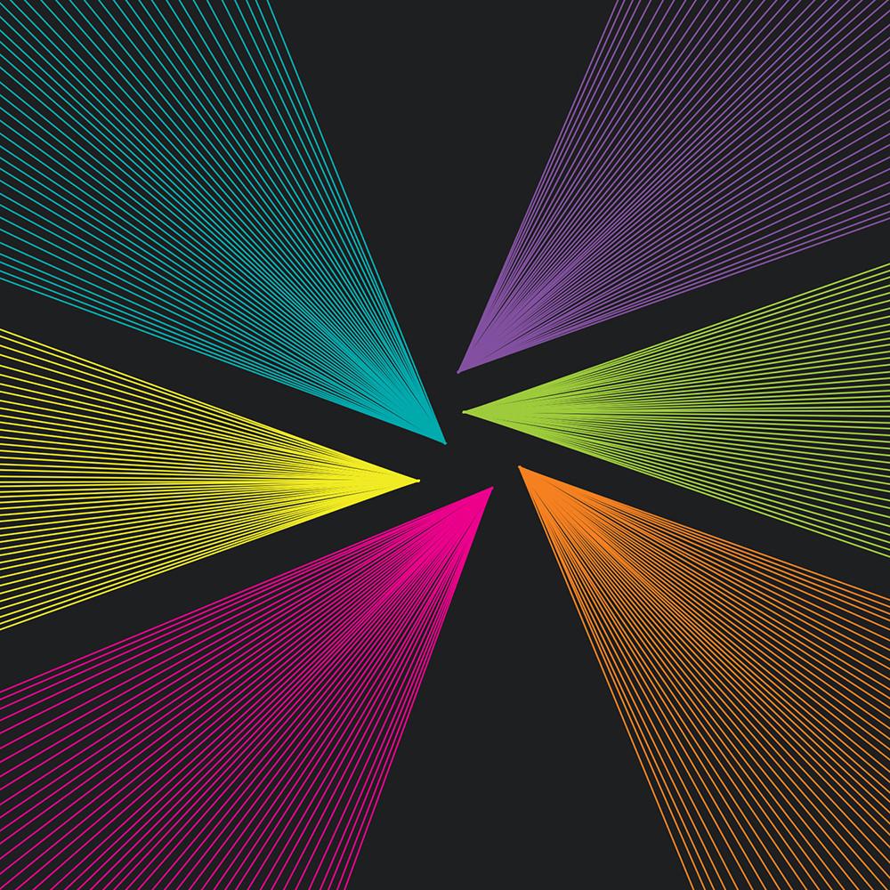 wall art, rainbow, vortex, sun, op art, abstract art