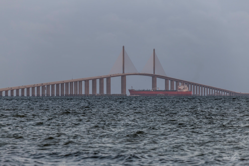 Skyway Bridge Ship Photographic Art
