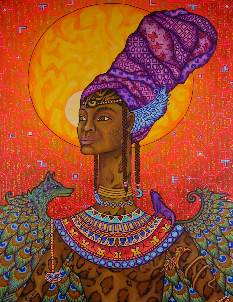 Egyptian and African queen art