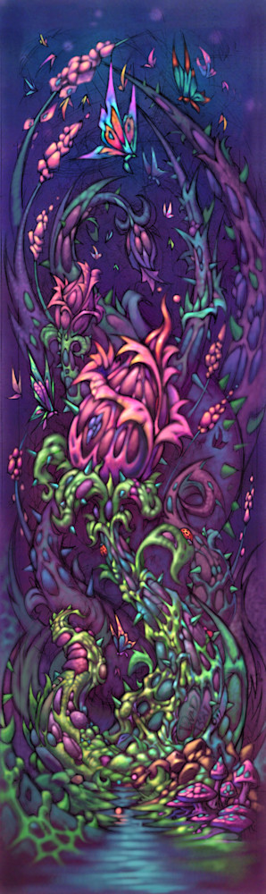 Plant Growth - Fantasy flower with butterflies by David Bollt