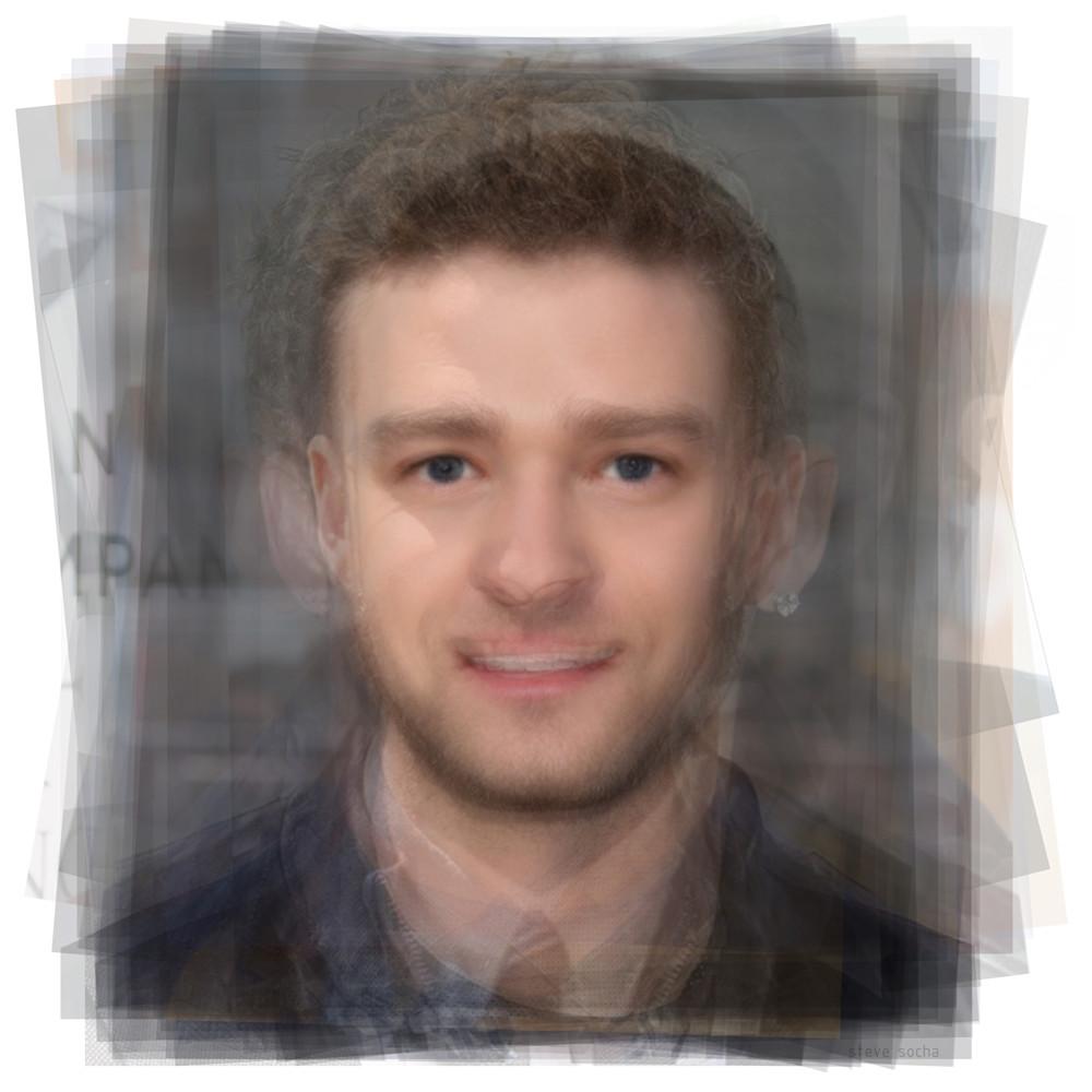 Overlay art – contemporary art print of Justin Timberlake
