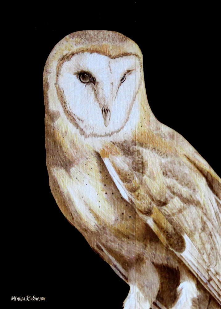 Barn Owl  Print Art | Minisa Pyrography