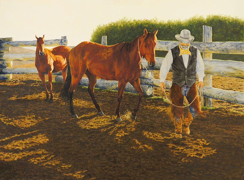 "Raymond Wattenhofer Fine Art Print ""Morning Mount""."