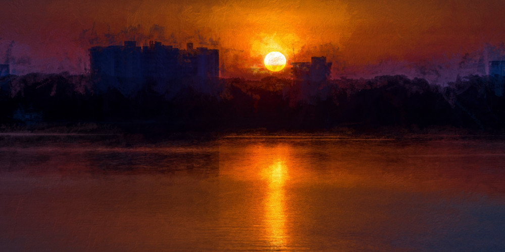Apocalyptic Sunrise Panorama Photography Art | Carol Brooks Parker Fine Art Photography