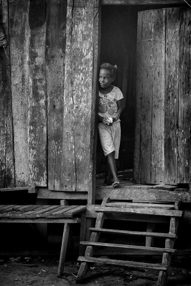 Gam Island Girl b&w - Raja Ampat, Indonesia 2013