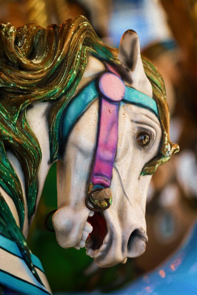 Carousel Horse Cream 1 - Barefoot Landing, South Carolina 2015