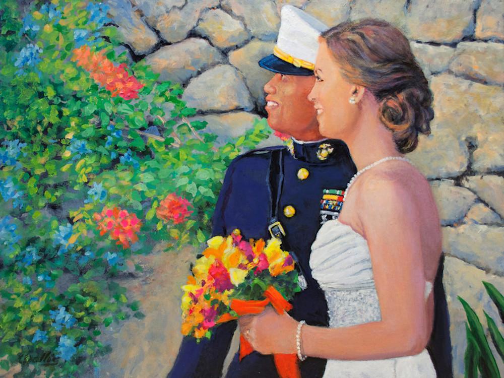 Wedding scene portraits